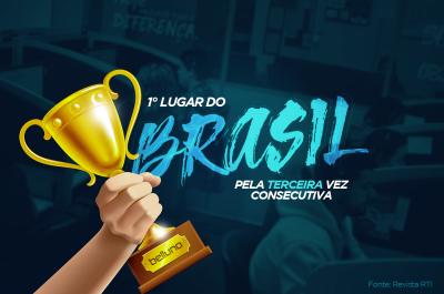 Pela terceira vez consecutiva, somos o Call Center mais lembrado do Brasil.
